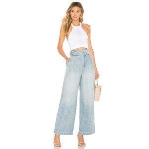 Free People side buckle wide leg jeans NWOT